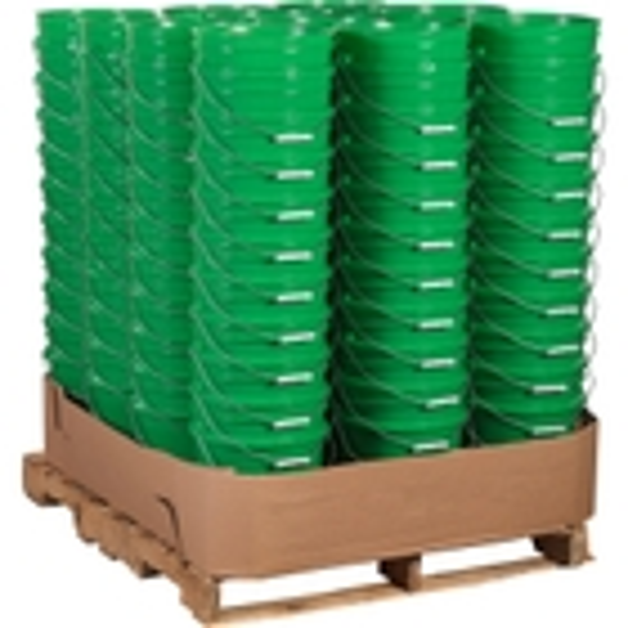 Unit Pack (120 ea.) - 5 Gallon Green Plastic Pail (90 mil), w/Metal Handle
