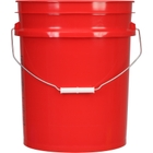 5 Gallon Red Plastic Pail (90 mil), w/ Metal Handle