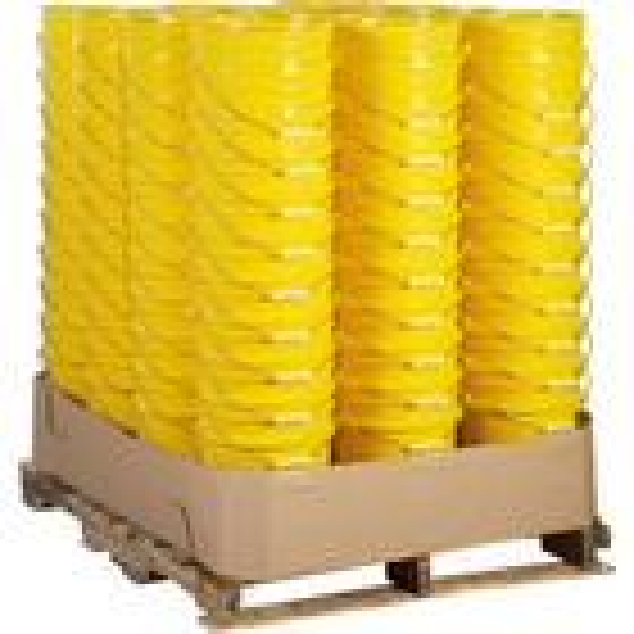 Unit Pack (120 ea.) - 5 Gallon Yellow Plastic Pail (90 mil), w/Metal Handle