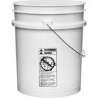 5 Gallon White Plastic Pail (75 mil) w/Metal Handle