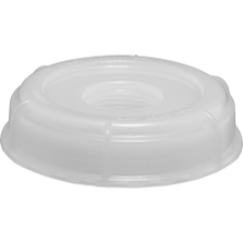 """70mm (6TPI) Natural Plastic Screw Cap with 3/4"""" Threaded Reducer"""