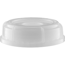 """70mm (6TPI) Natural Tamper Evident Plastic Screw Cap with 3/4"""" Threaded Reducer"""
