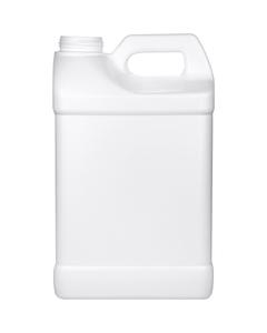 2.5 Gallon White HDPE Plastic F-Style Bottle, 63mm 63-445, 340 Gram