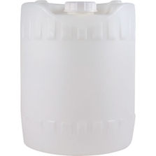 5 Gallon (18L) Natural Round HDPE Plastic Tight Head Pail with Fixed Handle and Cap, UN Rated, 70mm