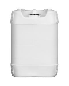 5 Gallon (20L) White Plastic Tight Head, 63mm Rieke Opening, Closed Vent Stem