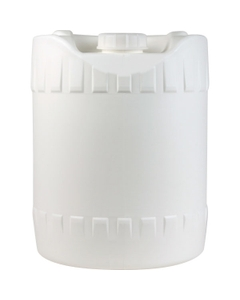 5 Gallon (18L) White Round HDPE Plastic Tight Head Pail with Fixed Handle and Cap, UN Rated, 70mm