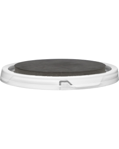 White Easy On / Easy Off Re-Usable No-Gasket Tear Strip Lid 60 MIL w/Pad Installed for 5 Gallon Pail, 4 Tabs, 80/Box