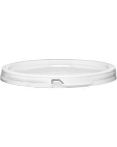 5 Gallon White Easy On Tear Strip Plastic Pail Lid, No Gasket (P4 Series)