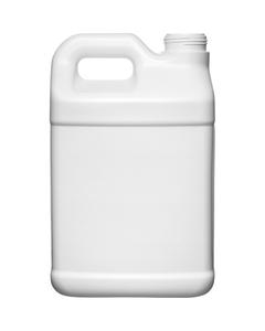 2.5 Gallon White HDPE Plastic F-Style Bottle, 63mm 63-445, 340 Grams