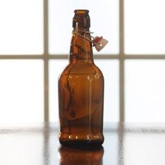 500 ml (16 oz.) Amber Swing Top Beer Bottles, EZ Cap, 12/cs