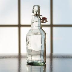 500 ml (16 oz.) Clear Swing Top Beer Bottles, EZ Cap, 12/cs