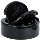 53mm 53-485 Black Dual Flapper Cap, 3 Holes, Pressure Sensitive Liner