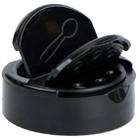 53mm 53-485 Black Dual Flapper Cap, 3 Holes, HIS for PET/PVC