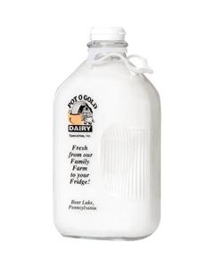 64 oz. Printed Half Gallon Glass Milk Bottle