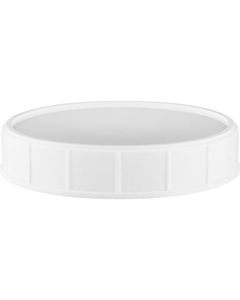 120mm White Foam Lined Canister Closure