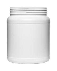 1500cc White HDPE Plastic Wide Mouth Jar, 110mm 110-400