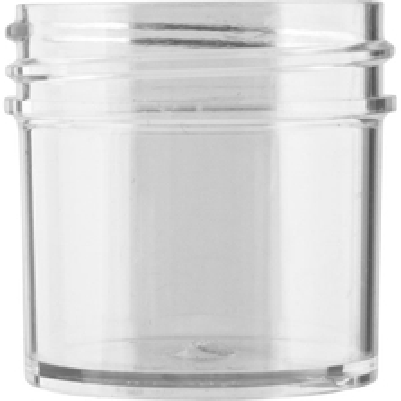 1 oz. Clear Plastic Jar, Straight Sided, 43mm 43-400