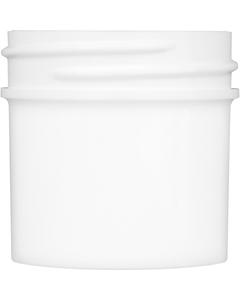 1 oz. White Plastic Jar, Straight Sided, 43mm 43-400