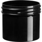 2 oz. Black Plastic Jar, Straight Sided, 53mm 53-400