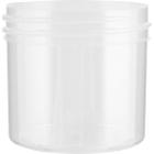 2 oz. Clarified Natural Plastic Jar, Straight Sided, 53mm 53-400