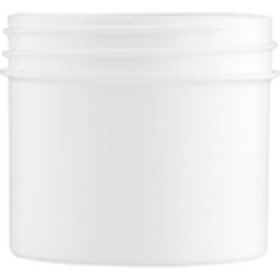 2 oz. White Plastic Jar, Straight Sided, 53mm 53-400