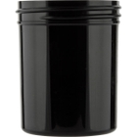 4 oz. Black Plastic Jar, Straight Sided, 58mm 58-400