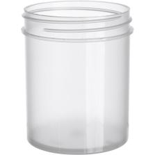 4 oz. Natural Plastic Jar, Straight Sided, 58mm 58-400