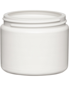 4 oz. White HDPE Plastic Wide Mouth Jar, 70mm 70-400