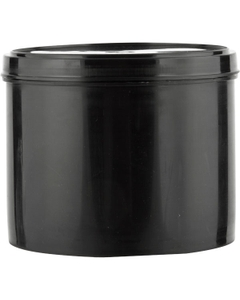5 lb. (77 oz.) Black HDPE Plastic Commercial Ink Can with Lid