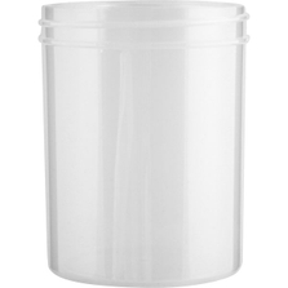 8 oz. Natural Plastic Jar, Straight Sided, 70mm 70-400