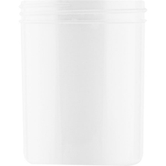 8 oz. White Plastic Jar, Straight Sided, 70mm 70-400