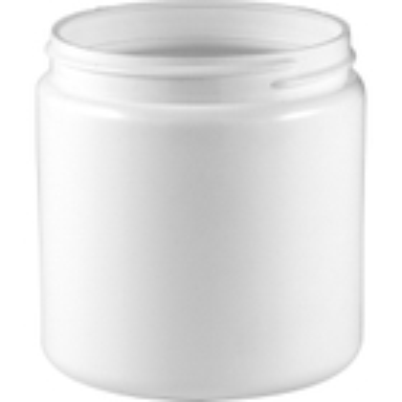 8 oz. White HDPE Plastic Jar, 70mm 70-400