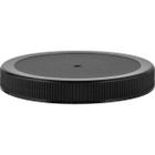 110mm 110-400 Black Ribbed (Matte Top) Plastic Cap w/Foam Liner (3-ply)
