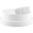 110mm 110-400 White Unlined Side Pour Flapper Cap