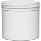 12 oz. White PP Plastic Jar, Straight Sided, 89mm 89-400, 34 Grams