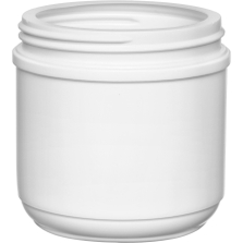16 oz. White HDPE Plastic Canister, 89mm 89-400