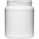 1500cc White HDPE Plastic Wide Mouth Jar, 110mm 110-400, Bulk Pack