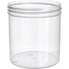 16 oz. Clarified Natural Plastic Jar, Straight Sided, 89mm 89-400