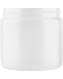 16 oz. Natural Straight Sided HDPE Jar, 89mm 89-400