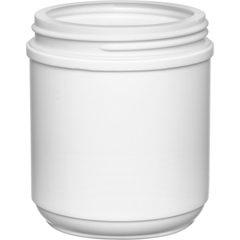 19 oz. White HDPE Plastic Canister, 89mm 89-400