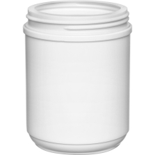 23 oz. White HDPE Plastic Canister, 89mm 89-400