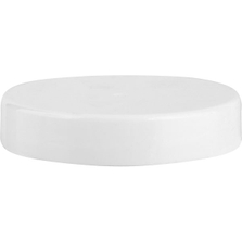 53mm 53-400 White Smooth Plastic Cap w/Foam Liner (3-ply)