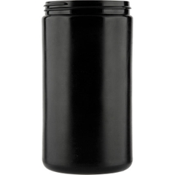 32 oz. Black HDPE Plastic Jar, Straight Sided, 89mm 89-400