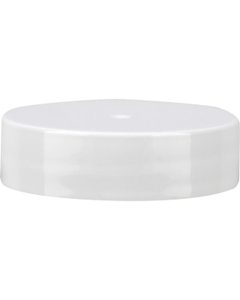 38mm 38-400 White Smooth Plastic Cap, Unlined