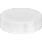 38mm 38-400 White Ribbed Plastic Cap w/HIS for HDPE