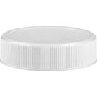 43mm 43-400 White Ribbed (Matte Top) Plastic Cap w/Foam Liner (3-ply)