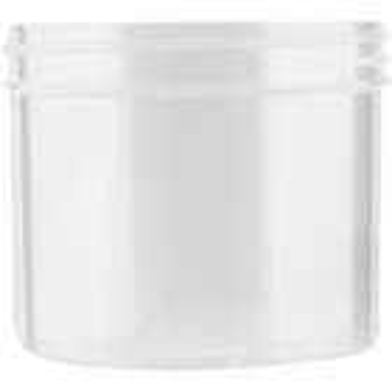 4 oz. Natural Plastic Jar, Straight Sided, 70mm 70-400