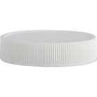 48mm 48-400 White Ribbed (Matte Top) Plastic Cap w/PS22 Liner (Printed)