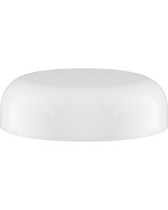 58mm 58-400 White Plastic Dome Cap, Pressure Sensitive Liner