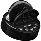 63mm 63-485 Black Dual Flapper Cap, 7 Holes, Pressure Sensitive Liner